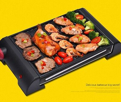 800W Multifunction Smoke Free Health Quick Stainless Steel BBQ Electric Grill *