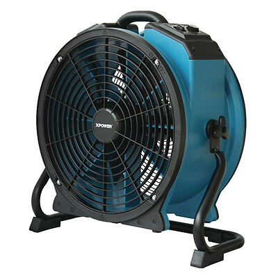 XPOWER X-47ATR 1/3 HP 3600 CFM Industrial Axial Fan Air Mover w Outlet, Timer