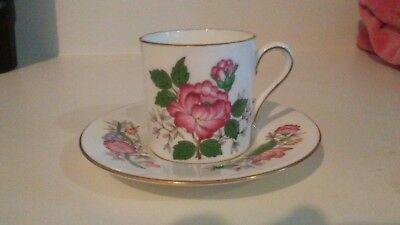 Dematisse bone china,can shaped cup and saucer.Over 35 yrs old.NEVER USED.