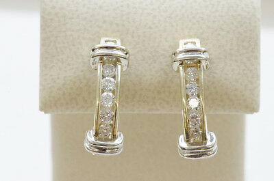 Two Toned Gold Diamond Earrings