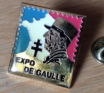 pin's pins badge lapel pin's expo general de gaulle TBE