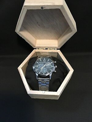 Brand new Mens Crystal stainless steel quartz watch