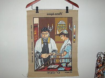 "DISCONTINUED–empi-craft KETER NEEDLEPOINT PENELOPE CANVAS –""BAR MITZVAH"" #KSN 59"