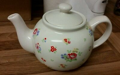 **CATH KIDSTON SPRAY SPRIG FLOWERS CHINA TEAPOT BY QUEENS KITCHENS** floral