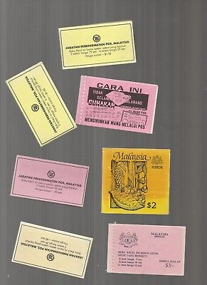 Malaysia stamp booklets x 7