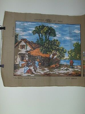 "Rbc De Paris Tapisserie – ""Le Matin"" #4288.08 Reproduction Of The Frech Painting"