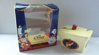 Disney Beauty & The Beast Clover Special Edition Ceramic Butter Dish FREE P&P