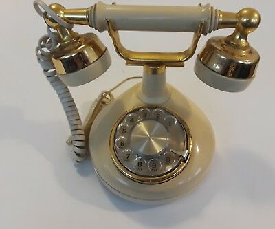 Vintage Western Electric Telephone French Style Push Button Ivory Phone Props