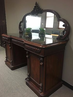 Antique mirror backed sideboard