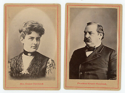 President and Mrs. Grover Cleveland (pair of portraits) circa 1885
