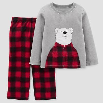 Toddler Boys' 2pc Long Sleeve Bear Buffalo Check Pajama Set - Just One You&#1...