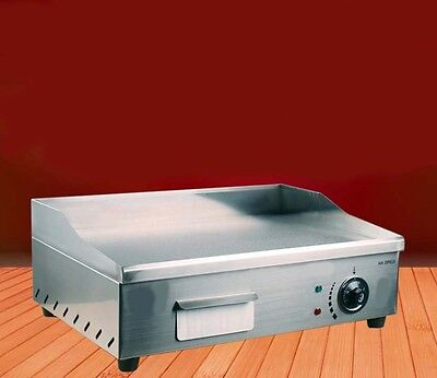 Commercial Sizzling Squid Countertop Hot Plate Stainless Steel Electric Grill *