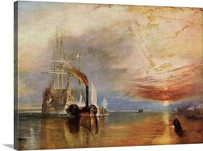 "PENELOPE 10/20 CANVAS–""THE FIGHTING TEMERAIRE"" J.M. WILLIAM TURNER painting"