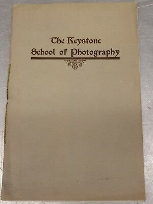 Vintage early 19th The Keystone School of Photography booklet Downingtown PA