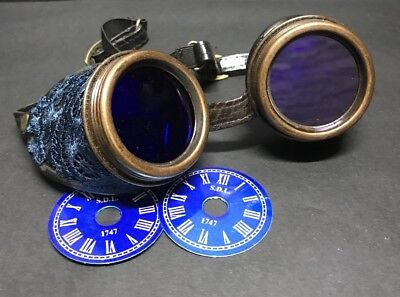 SDL Blue Lens Goggles With Petrol BlueLaces Covered With Extra Clock Face Insert