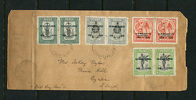 Papua 1935 Fdc Jubilee First Day Stamp Cover  Rarer Pairs Includes Overprints