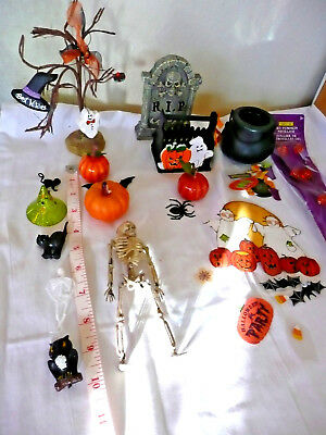 "25 pc,Halloween, Miniatures, for Dollhouse or other, Tree  largest  at  6 3/4""T"
