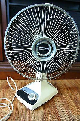 Vintage Panasonic F-9200A Oscillating Table Desk Fan, 2-Speed Works READ