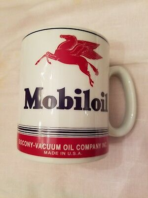 Large MobilOil Pegasus Coffee Mug - double sided image - 3-1/2 cups - MINT