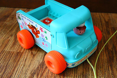 Fisher Price Milk Wagon Pull Toy 2010 Reproduction Basic Fun