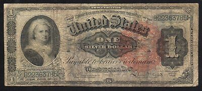 Fr 217 1886 $1 Silver Certificate MARTHA NOTE Large size paper money   B22363785
