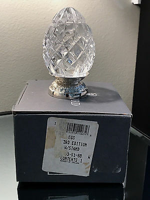 Waterford Annual 3rd Edition Crystal Egg 1992