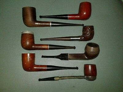 Lot of 7 Vintage Smoking Tobacco Estate Pipes