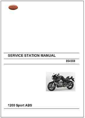 Moto Guzzi 1200 Sport ABS Service Repair Workshop Manual 2008-2012 (0129)