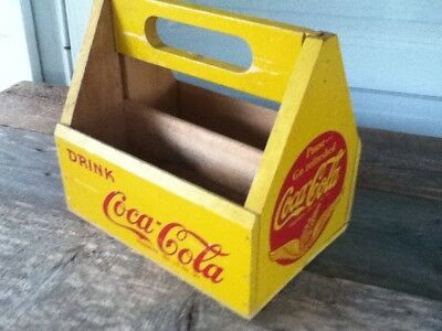 Coca Cola Red Wings Wood Carrier