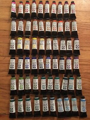 Daniel Smith Extra Fine Watercolors lot of 60 - 15ml Tubes All Brand New Unused