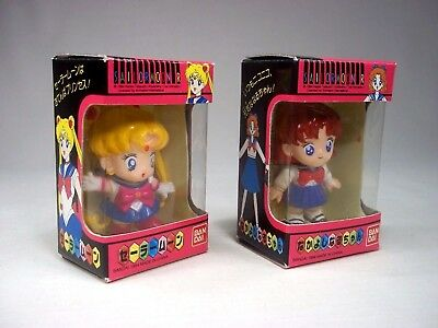 Sailor Moon Sailormoon R Mini Serena + Molly Naru-Chan Figure Bandai Japan LOT