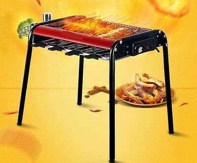Red Multifunction Portable Non Stick Health Quick BBQ Electric Grill With Holder
