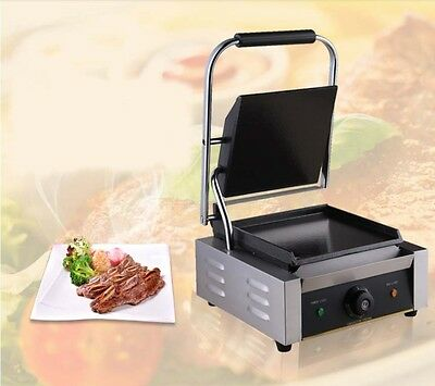 New Commercial Stainless Steel Countertop Hot Plate Pressplate Electric Grill *