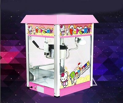 Commercial Popcorn Pop Corn Maker Automatic Stainless Steel Popcorn Machine *