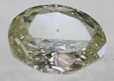 Cert 2.01 Natural Fancy Yellow VS1 Oval Enhanced Natural Diamond 9.17x7.18mm
