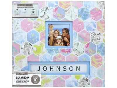 K Company 12 X 12 In Scrapbook Frame A Name Album Marbled Hexagon