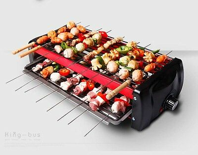 Commercial Smoke Free Health Stainless Steel BBQ Double-Deck Electric Grill *