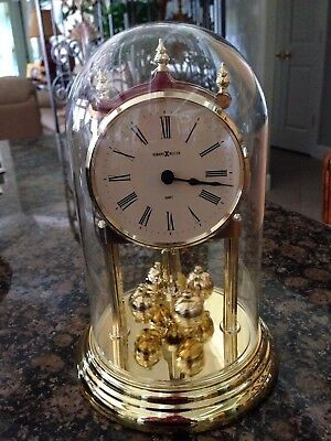 Howard Miller German made clock - tabletop with glass dome