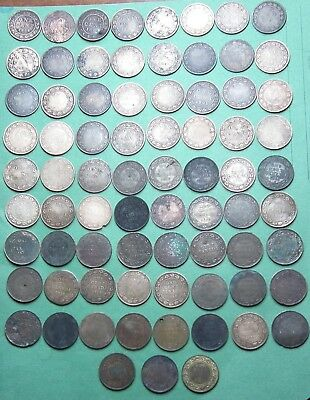 Lot of 75 Canada Large cents, 1859 - 1920