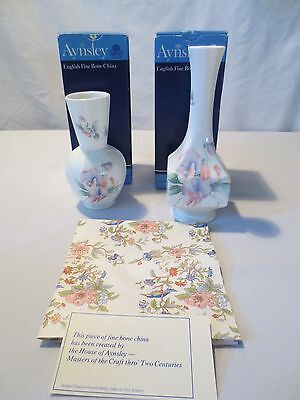 Aynsley Bone China - Little Sweetheart -2 Vases In Boxes England