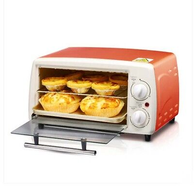 Orange 12L Mini Commercial Multi-function Heating Home Benchtop Electric Oven *