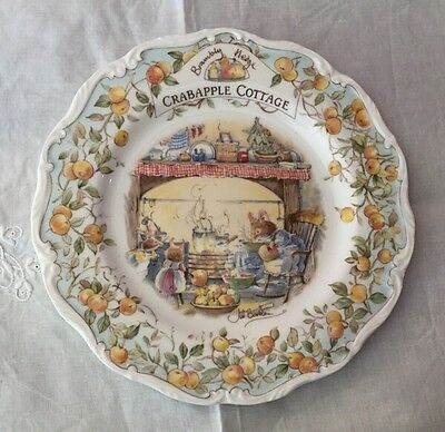 "Royal Doulton Brambly Hedge ""Crabapple Cottage"" Plate. Made in England."