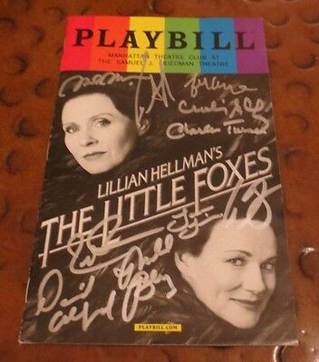 The Little Foxes Broadway Play Playbill current cast signed autographed