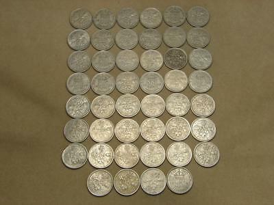 1947-1966 Great Britain 6 Pence Coin Lot of 46