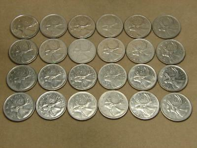 1968-1989 Canada 25 Cents Coin Lot of 24