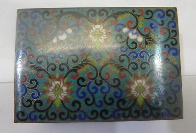 Antique or Vintage Chinese Cloisonne Box
