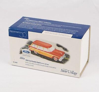 "Department 56 ""1955 Ford Country Squire"" Red, Snow Village #56.54950 *new*"