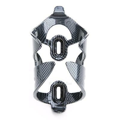 Outdoor Cycling Bicycle Bike Carbon Fiber Pattern Water Bottle Rack Cage Holder