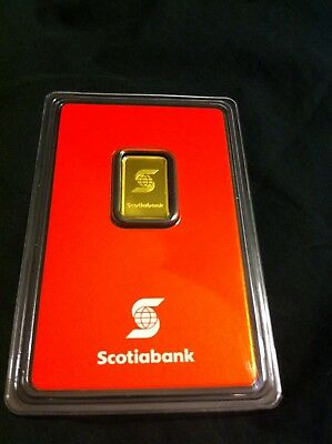 1/10 Gold Wafer Bar 24K Scotiabank Valcambi Sealed Assay Low AA Serial Canada