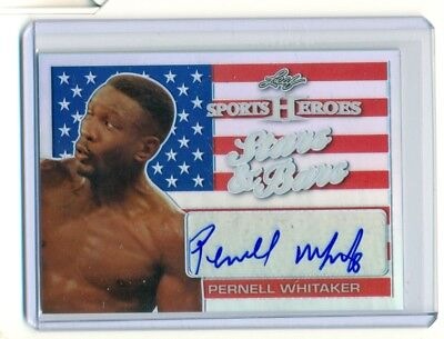 2017 Leaf Metal Sports Heroes Pernell Whitaker Stars & Stripes Auto Boxing